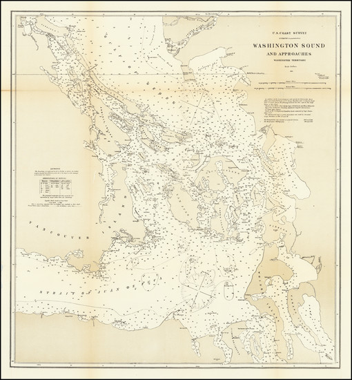 40-Washington, Canada and British Columbia Map By U.S. Coast & Geodetic Survey