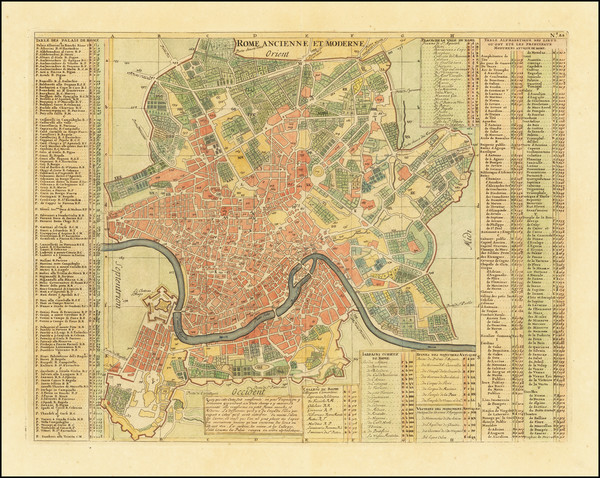 66-Rome Map By Henri Chatelain