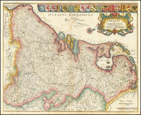 63-Netherlands Map By Matthaus Merian