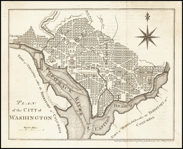 62-Washington, D.C. Map By Carl Jaettnig