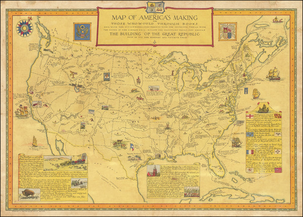 33-United States and Pictorial Maps Map By Paul M. Paine