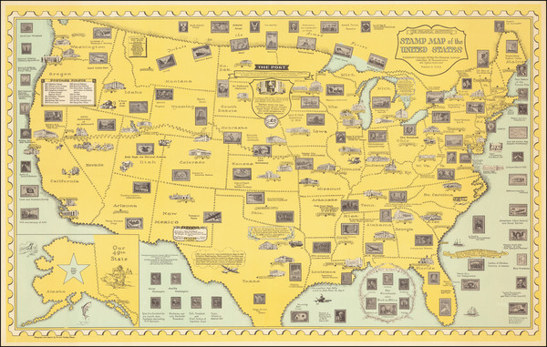 92-United States and Pictorial Maps Map By Ernest Dudley Chase