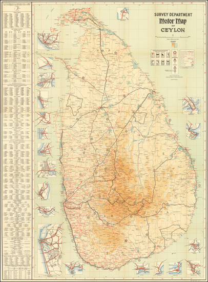 25-Sri Lanka Map By Ceylon Survey Department