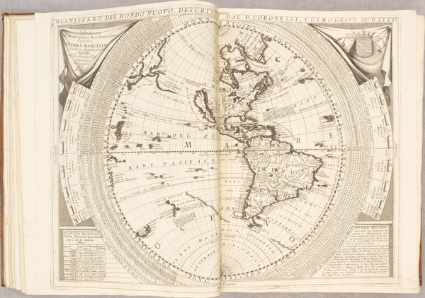 58-Atlases Map By Vincenzo Maria Coronelli
