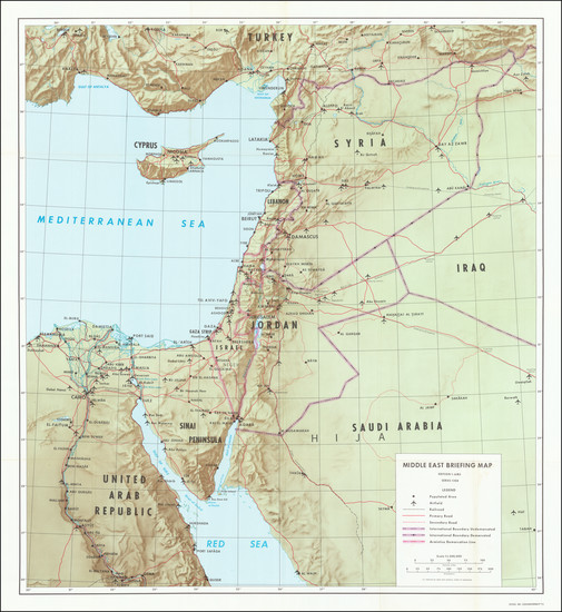 90-Middle East and Holy Land Map By U.S. Army Corps of Engineers / U.S. Army Map Service