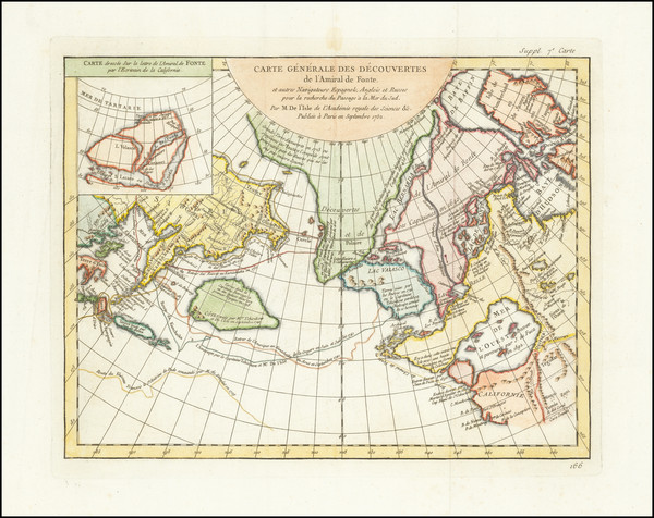 14-Alaska, Russia in Asia and Canada Map By Denis Diderot / Didier Robert de Vaugondy