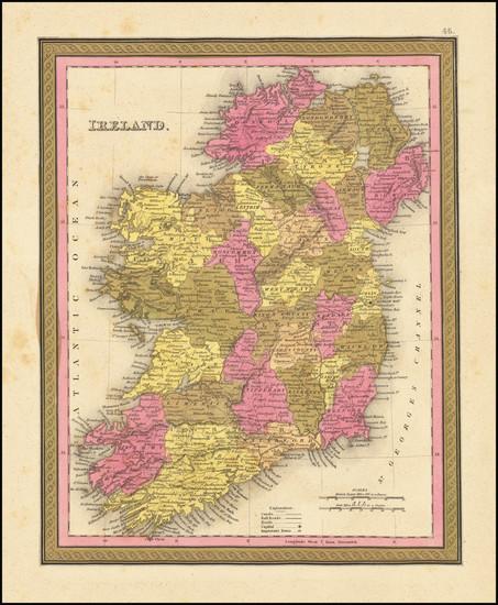 50-Ireland Map By Samuel Augustus Mitchell
