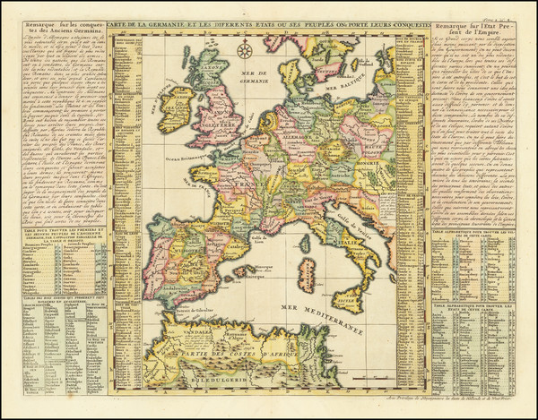 10-Europe, Germany, Baltic Countries and Mediterranean Map By Henri Chatelain