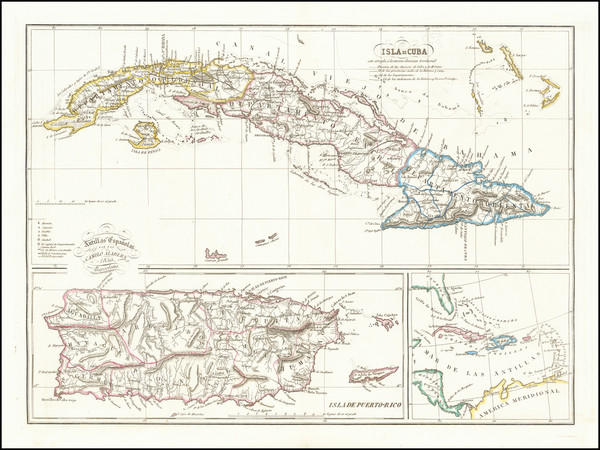 39-Cuba and Puerto Rico Map By Camilo Alabern