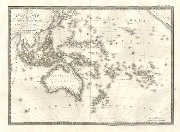 13-World, Australia & Oceania, Pacific, Oceania, Hawaii and Other Pacific Islands Map By Adrie