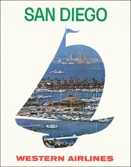 92-Curiosities, Pictorial Maps and San Diego Map By Anonymous