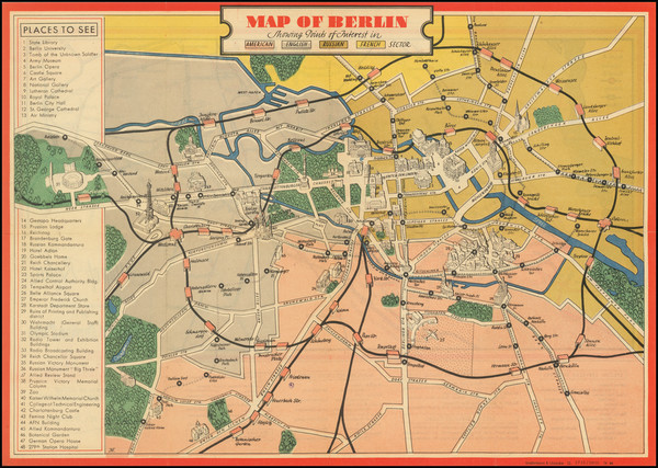 89-Germany and World War II Map By U.S. Army Special Services Office
