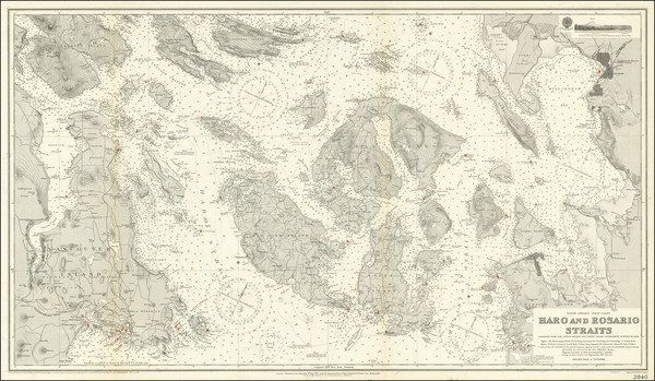 60-Washington and Canada Map By British Admiralty