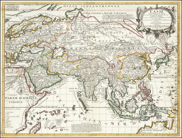 12-Asia Map By Vincenzo Maria Coronelli / Jean-Baptiste Nolin