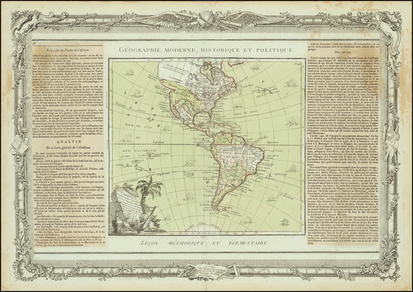 79-America Map By Louis Brion de la Tour