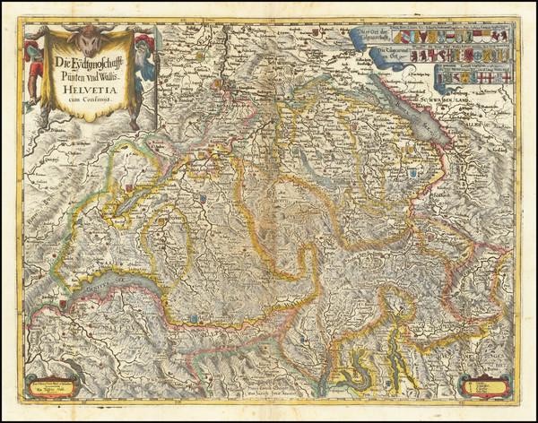 19-Switzerland Map By Matheus Merian