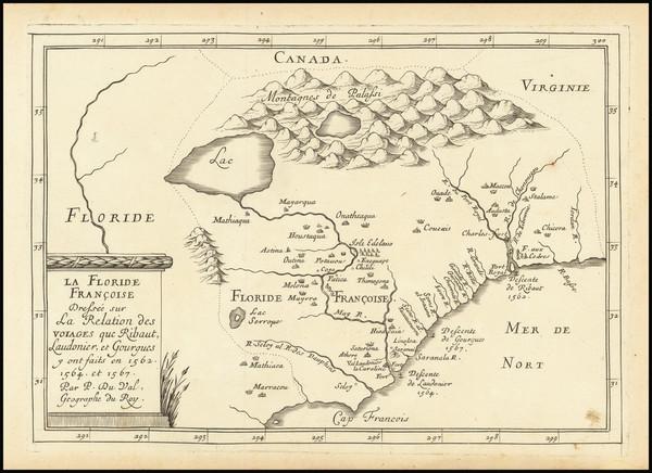 8-Florida, Southeast, Georgia, North Carolina and South Carolina Map By Pierre Du Val