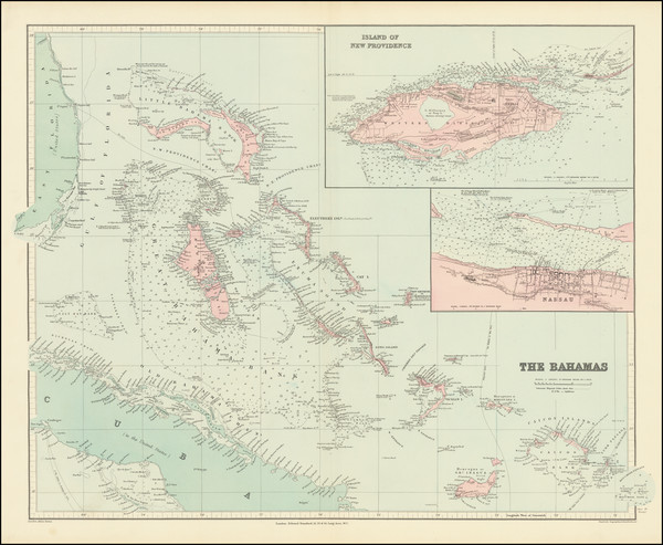 5-Bahamas Map By Edward Stanford