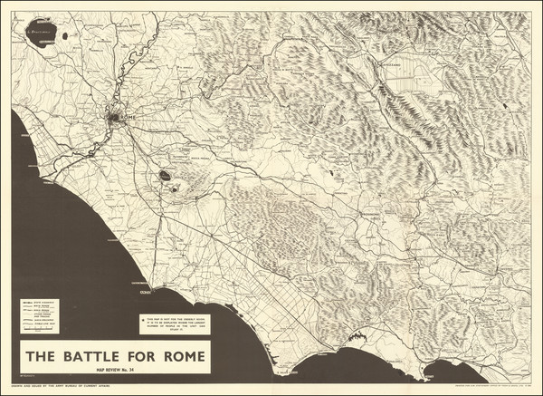 72-Italy, Rome and World War II Map By George Philip & Son / McKerrow / ABCA Map Review