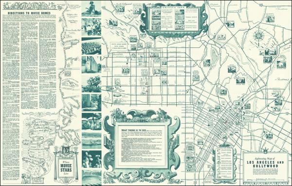 61-Pictorial Maps and Los Angeles Map By The All-Year Club of Southern California