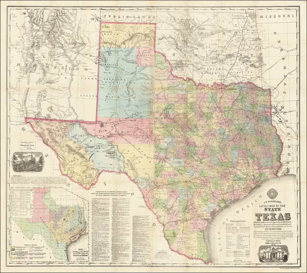 22-Texas Map By Anton R. Roessler  &  Maximilian Van Mittendorfer