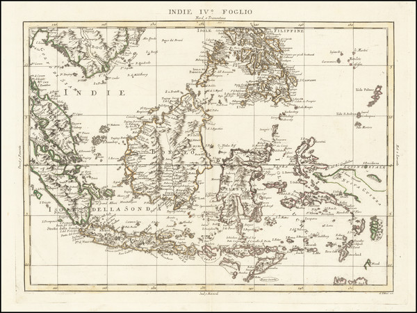 96-Philippines, Singapore, Indonesia and Malaysia Map By Antonio Zatta