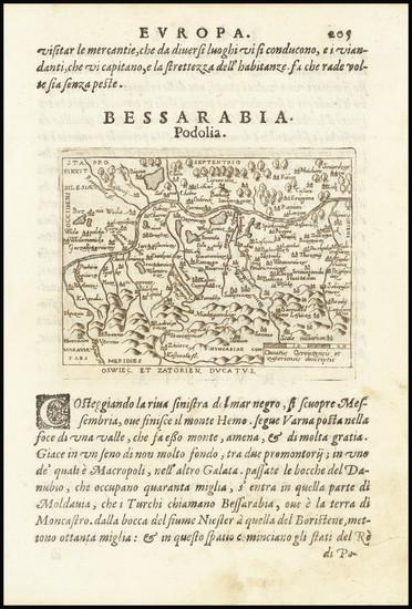 73-Poland Map By Abraham Ortelius