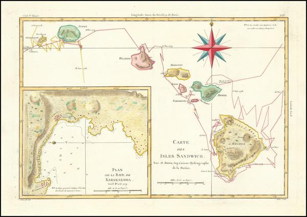 33-Hawaii and Hawaii Map By Rigobert Bonne / Rigobert Bonne