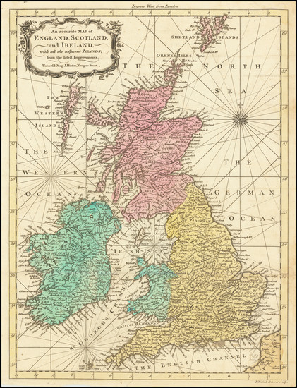 70-British Isles Map By Richard William Seale