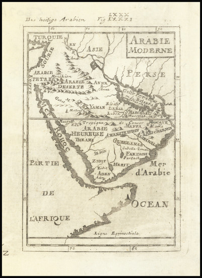 84-Middle East and Arabian Peninsula Map By Alain Manesson Mallet / Alain Manesson Mallet