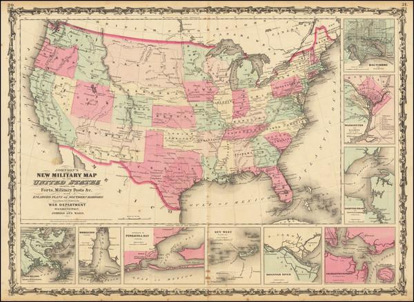 10-United States Map By Alvin Jewett Johnson