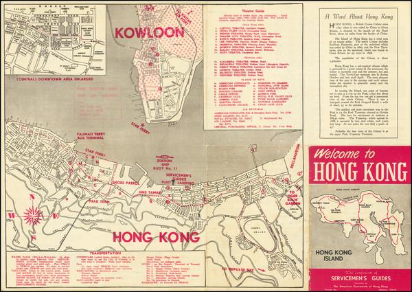 6-Hong Kong Map By Servicemen's Guides