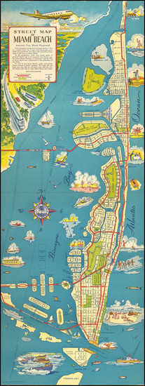 41-Florida and Pictorial Maps Map By Miami Beach Chamber of Commerce