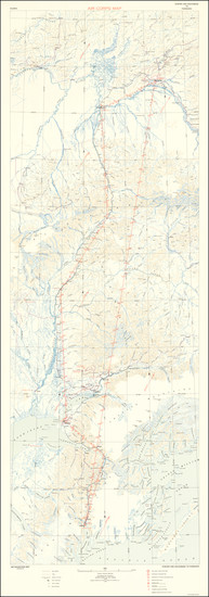 42-Alaska Map By United States Army Air Corps