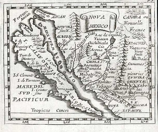 26-Southwest, Mexico, Baja California and California Map By Pierre Du Val
