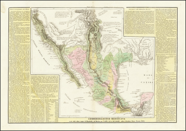 56-Texas, Southwest, Mexico and California Map By Girolamo Tasso