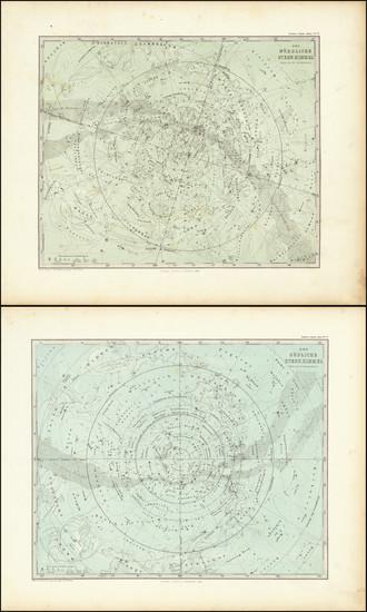 11-Celestial Maps Map By Adolf Stieler