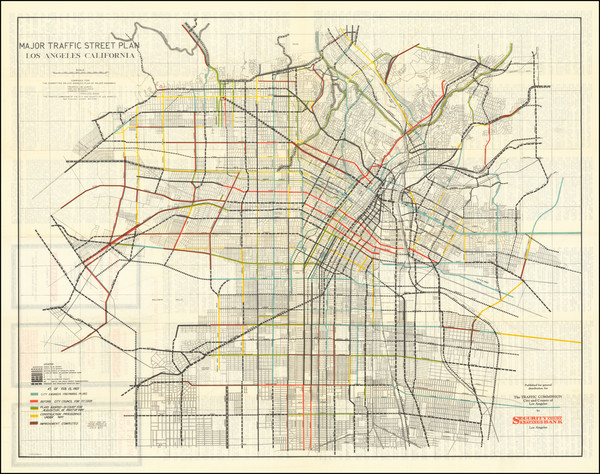 51-Los Angeles Map By Los Angeles Traffic Commission