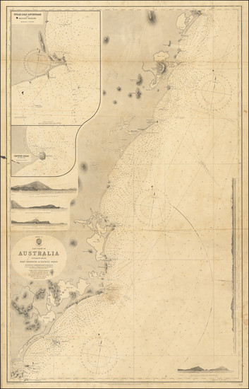 41-Australia Map By British Admiralty