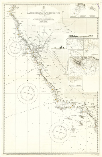 57-California Map By British Admiralty