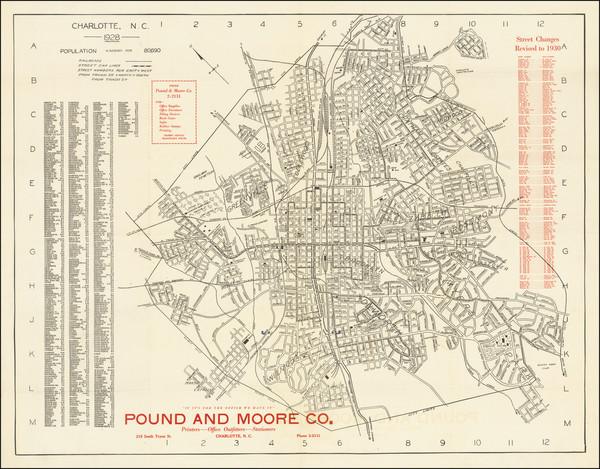 33-North Carolina Map By Pound and Moore