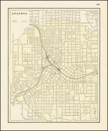 98-Georgia Map By George F. Cram