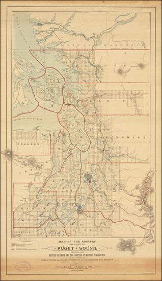 11-Washington and Canada Map By Baker, Balch & Co.