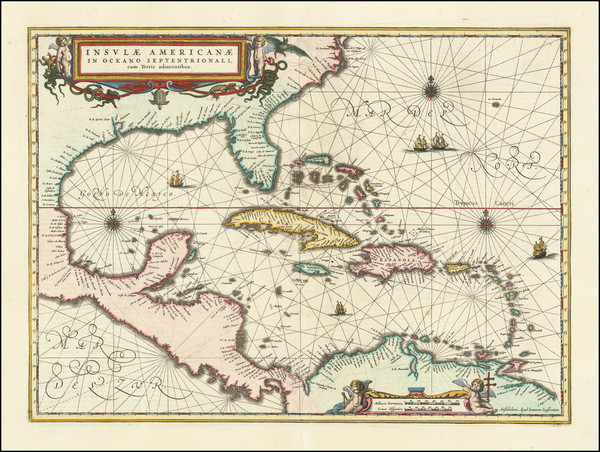 66-South, Southeast, Caribbean and Central America Map By Jan Jansson