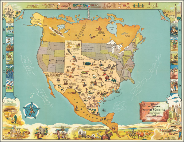 27-Texas and Pictorial Maps Map By Mark Storm