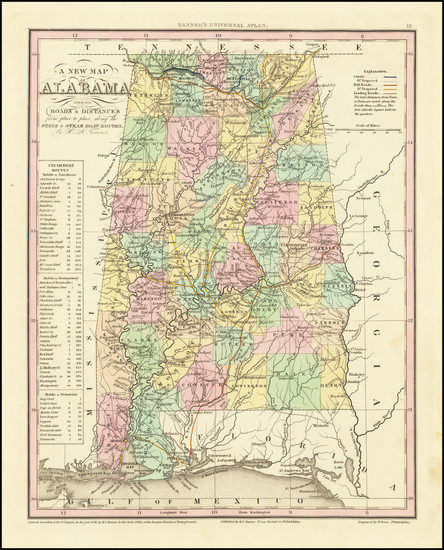 85-Alabama Map By Henry Schenk Tanner