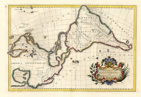 31-South America and America Map By Anonymous