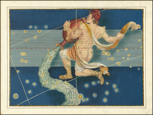 57-Celestial Maps Map By Johann Bayer