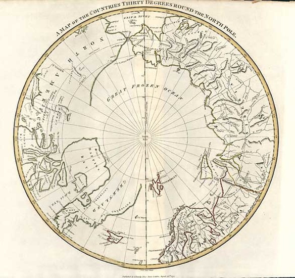 42-World, Northern Hemisphere, Polar Maps, Alaska and Canada Map By S.I. Neele
