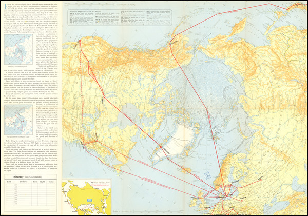 6-Polar Maps and Scandinavia Map By Scandinavian Airlines Systems